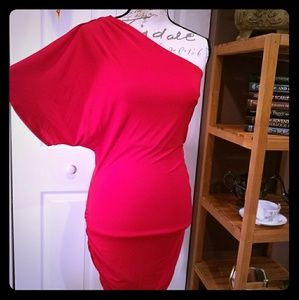 LIKE NEW - One shoulder kimono sleeve dress